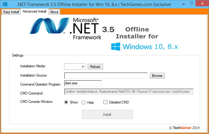 Advanced Installer part of .NET Framework Installer