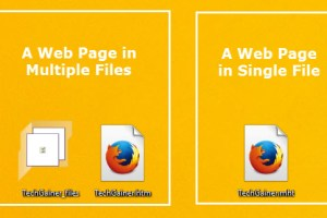 Save pages as single file in Firefox