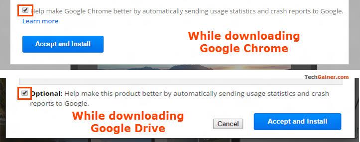 Chrome install dialog