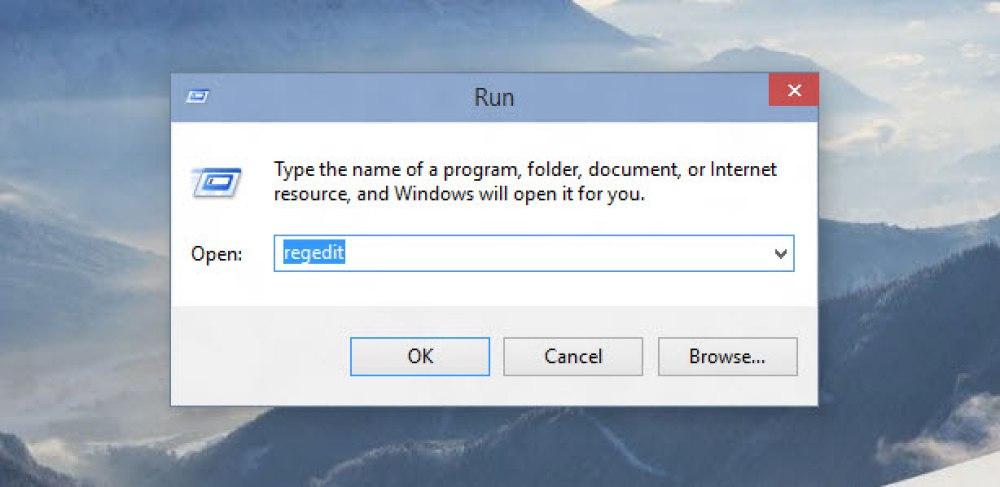Launch Registry Editor from Run