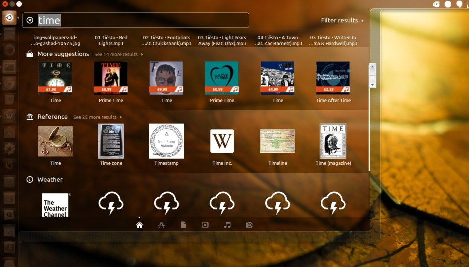 Online Results in Ubuntu Unity Dash