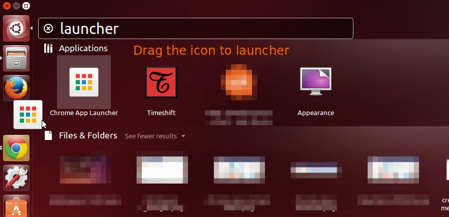Add Chrome App Launcher to Ubuntu Linux Launcher
