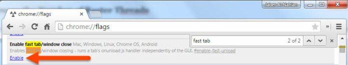 Enable fast tab/window close