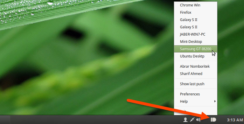 Pushbullet Indicator in Linux Mint