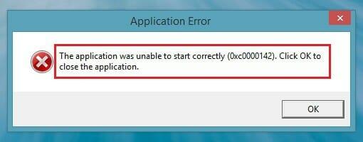 0xc0000142 error windows