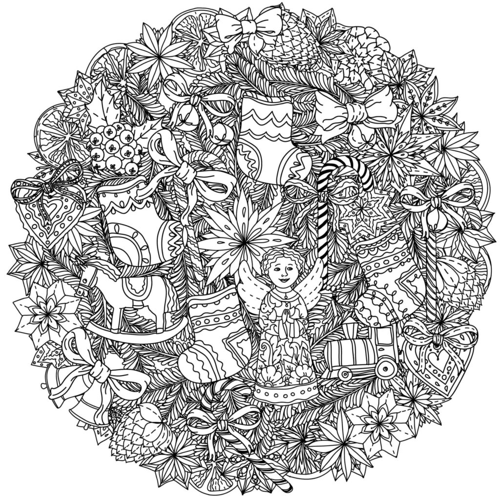 101 Best Christmas Coloring Pages For Kids & Adults Printable | christmas colouring pages for adults