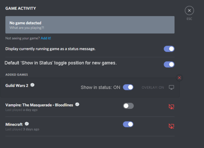 GameActivityToggle better discord plugins
