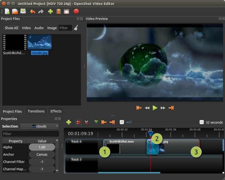 Alternativa de OpenShot Windows Movie Maker