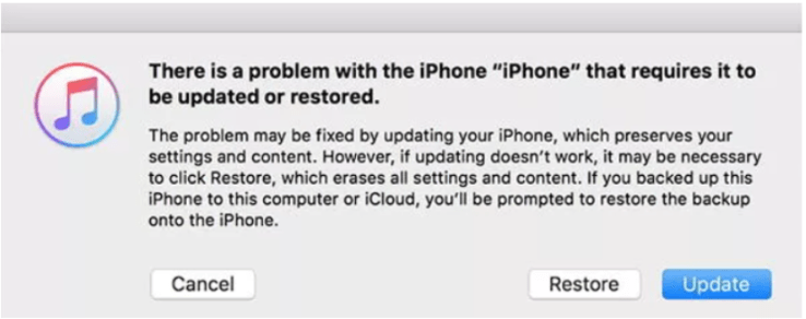 Usa iTunes para restaurar iPhone