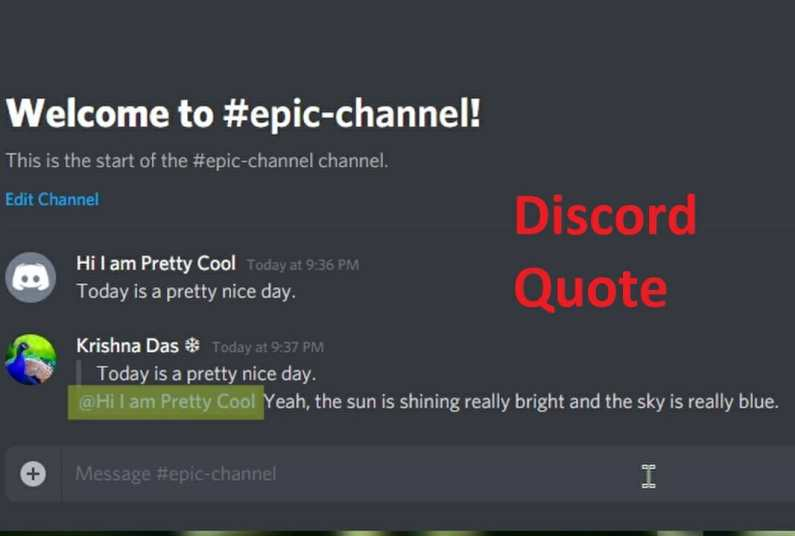 discord quote step by step