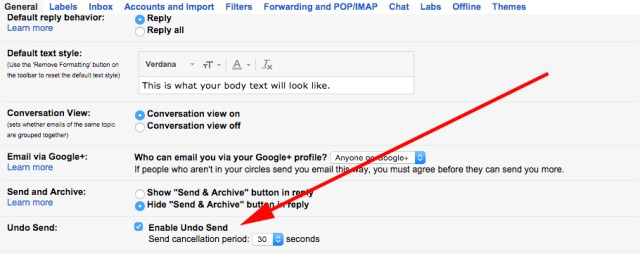 """en - """"Undo send"""" mail in Gmail, activate and use this awesome useful feature"""