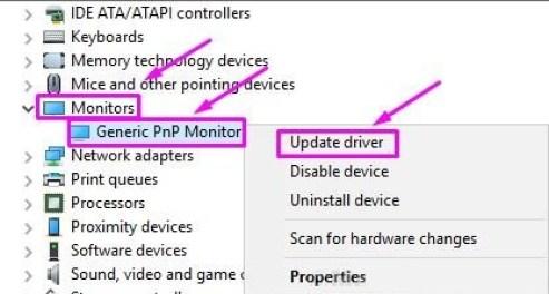 Controlador de monitor pnp genérico
