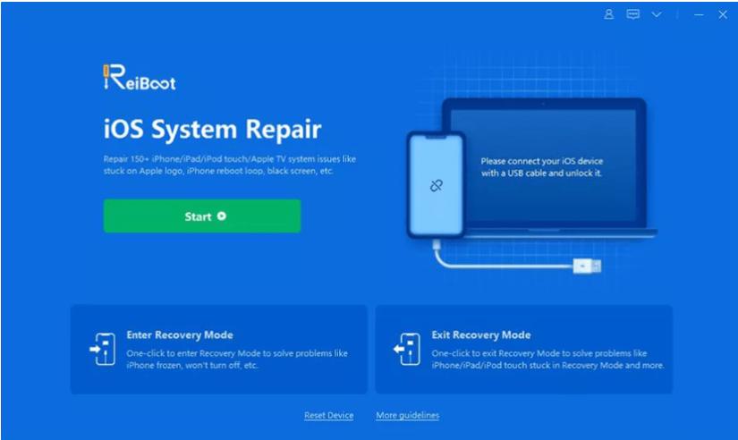 reparación del sistema iOS