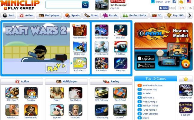 miniclip Best flash game sites