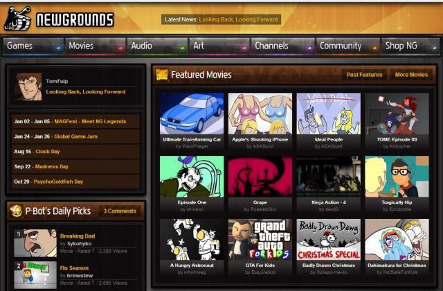 newgrounds Best flash game sites