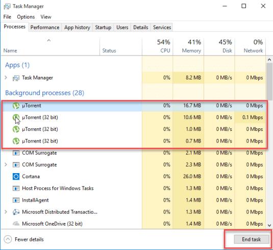 utorrent keeps freezing task manager