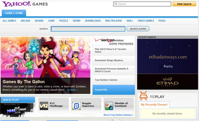 yahoo games Best flash game sites