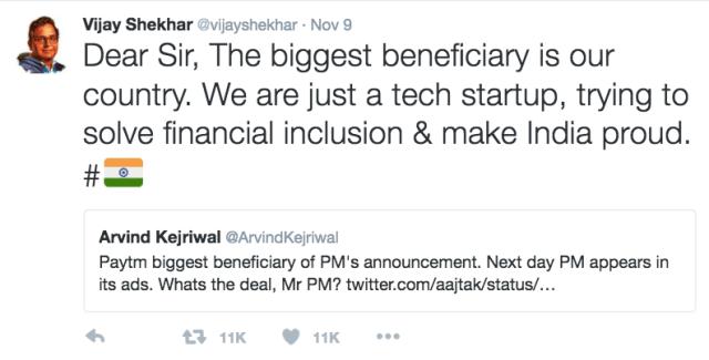 Paytm founder Vijay Shekhar Sharma to Arvind Kejriwal