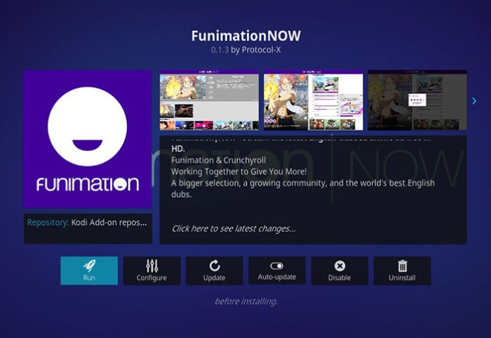 Anime Kodi Addons - Funimation NOW