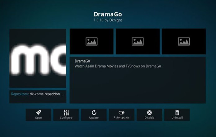 Korean Kodi Addons - DramaGO