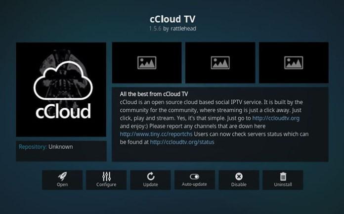 Korean Kodi Addons - cCloud TV