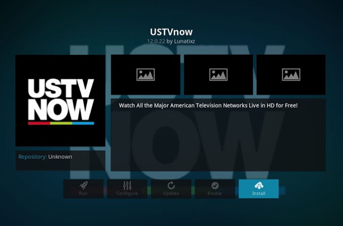 Live Sports Addons for Kodi - USTVNow 1