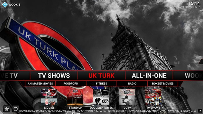 Wookie Kodi Build - UK Turk