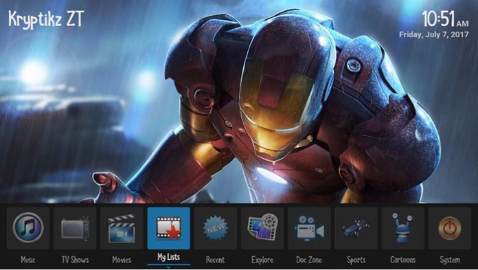 Best Kodi Builds -Kryptik ZT