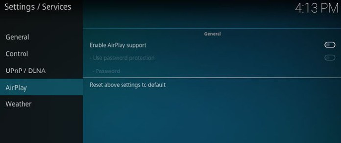 Guide to Kodi -AirPlay