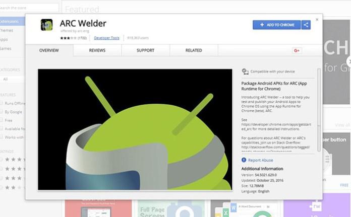 Install Kodi on Chromebook - Arc Welder