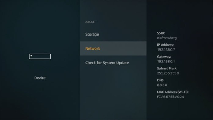 how to find ip adress on kodi