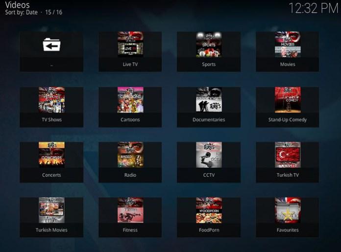 UK Turk Playlists Kodi Addon