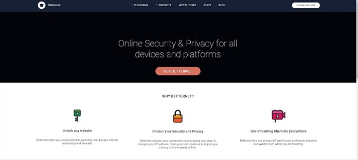 Betternet VPN Review Website
