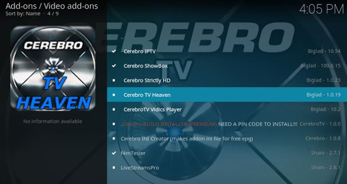 Cerebro TV Kodi Repository