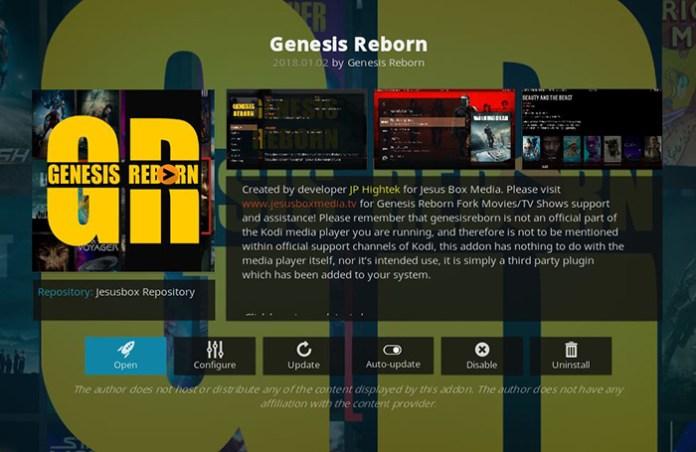 Genesis Reborn Korean Kodi Addon
