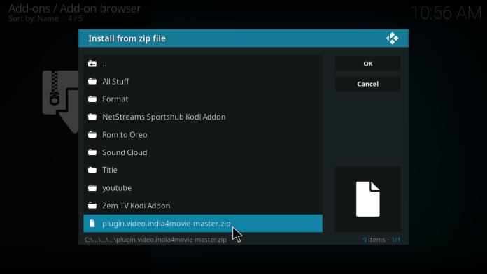 India4Movie Kodi Addon-Browse to Plugin