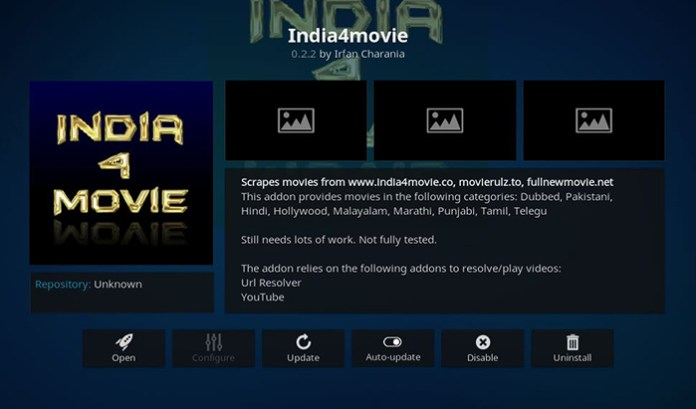 India4Movie Kodi Addon
