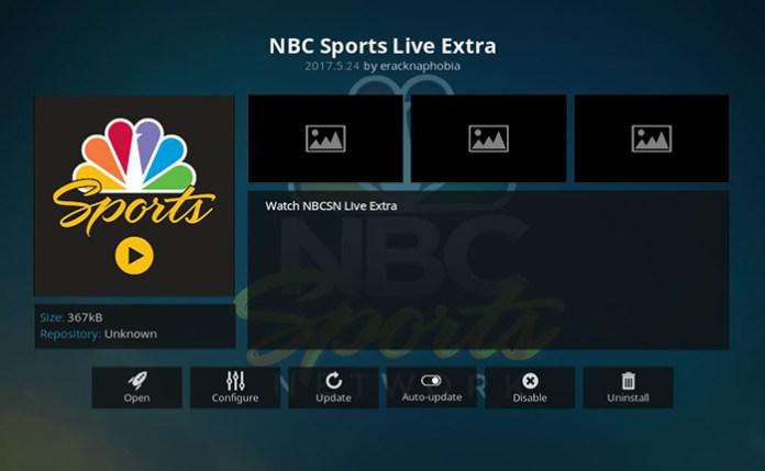 NBC Super Bowl Kodi Addon