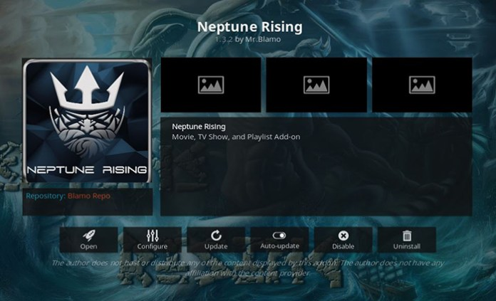 Neptune Rising Cartoon Kodi Addon