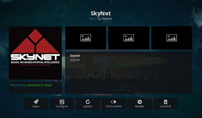 SkyNet Addon for Kodi