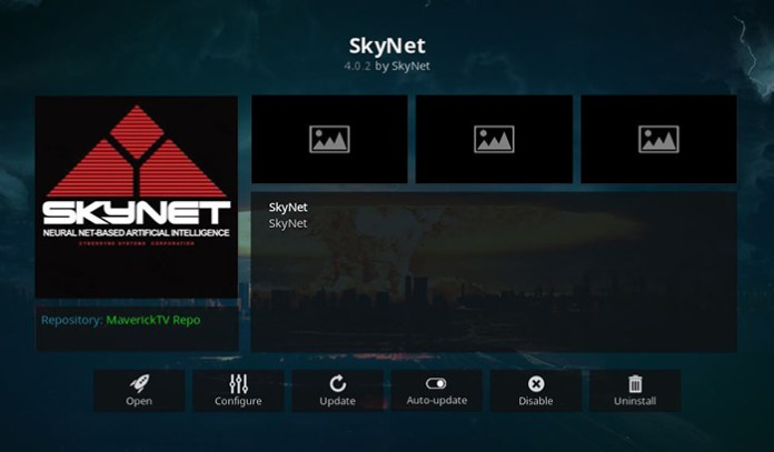 SkyNet Kodi Addon