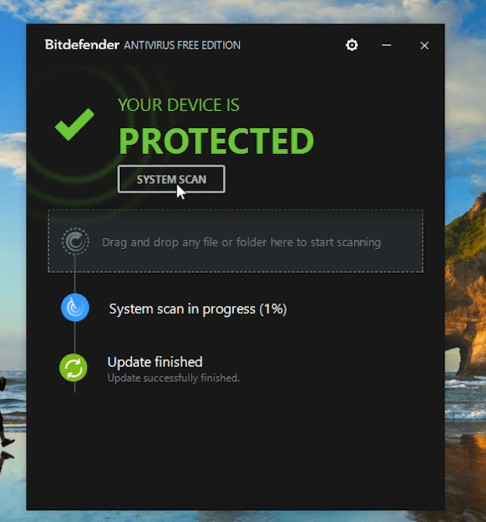 Bitdefender Manual Scan