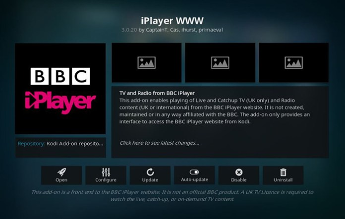 BBC iPlayer Live TV Kodi