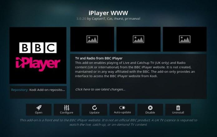 BBC iPlayer Live TV Kodi