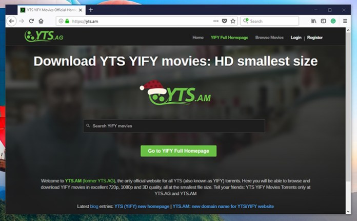 YTS.AG Torrent Site