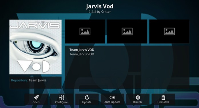 Jarvis VOD Kodi Addon