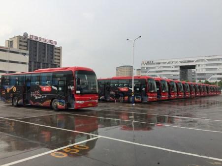 JD staff buses