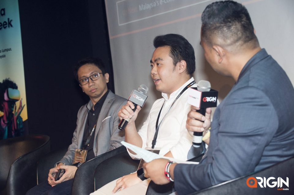 Left to right: Faeez Fadhlillah, CEO of Tripfez; Mikhail Melvin Goh, Co-founder of HHWT and Baiza Bain, Director at FinTech Lab speak at the ORIGIN conference in Malaysia on halal tourism on June 21, 2019.