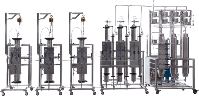A selection of supercritical CO2 extraction equipment available from Eden Labs