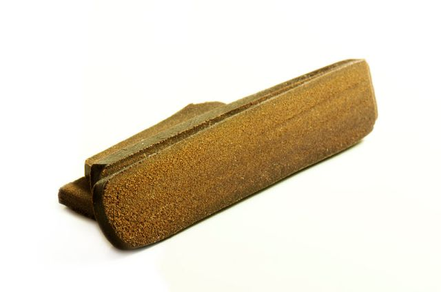A block of cannabis hash.